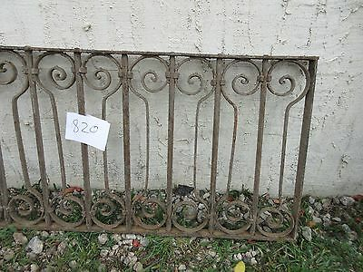 Antique Victorian Iron Gate Window Garden Fence Architectural Salvage #820 3