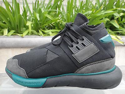9c66a1d4ce7e ... Y-3 BB4735 Yohji Yamamoto Adidas Qasa High Sneakers Black Teal Mens  US  Sz