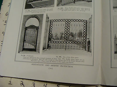 vintage Original Catalog: ENTRPRISE WROUGHT IRON fences-gates-arches, 1931 or so 8