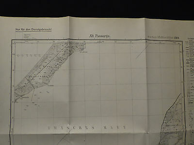 Landkarte Meßtischblatt 1584 Alt Passarge / Stara Pasłęka, Ostpreußen, 1931