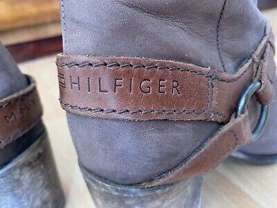 TOMMY HILFIGER Leder Stiefelette mit Nieten COFFEE BEAN