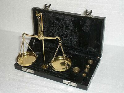 nostalgische Apothekerwaage Goldwaage Waage mit Gewichte von 1g - 10g 2