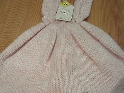 Next Girls Bunny Ears Bow Winter Hat lined Knit 5 - 6 years BNWT Pink Wool Hat 3