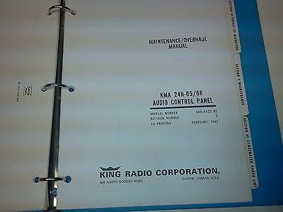 king kma 24h 65 66 audio control installation maintenance overhaul rh picclick com Schematic Bendix King KX 125 Bendix King Avionics