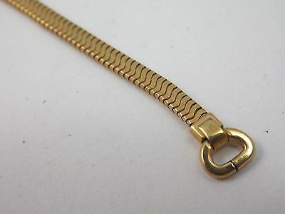 Forstner Ladies Hook End Gold Filled Butterfly Clasp Vintage Watch Band NOS 3