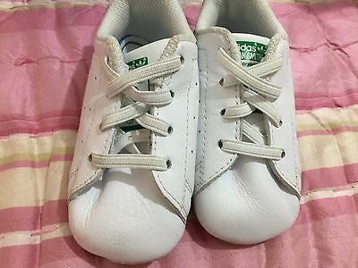 huge discount e6128 7d759 ORIGINALS ADDIDAS STAN SMITH CRIB BABY LEATHER SHOES Anti-Slip