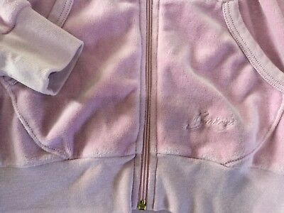 """NWT Juicy Couture New & Genuine Girls Age 8 Lilac Velour Hoody With """"J"""" Pull 5"""