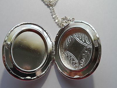 SILVER PLATED LOCKET-CARDINAL SENDING MY LOVE FROM HEAVEN