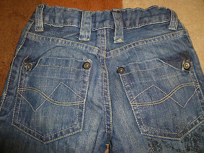 Kid's (5 yrs) Distressed Look Jeans with Studs by Matalan (Very Good Condition) 5