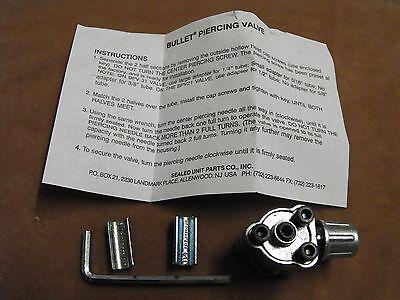 "Rf002: Supco Bullet Piercing Valve For 1/4"", 5/16"", 3/8"" Tubing Genuine"