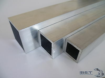 aluminium rechteckrohr alu profil kantrohr hohlrohr vierkantrohr l nge w hlbar eur 1 62. Black Bedroom Furniture Sets. Home Design Ideas