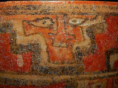 Pre-Columbian Polychrome Three-Footed Mayan Ceramic Pot, Authentic, Rare 10