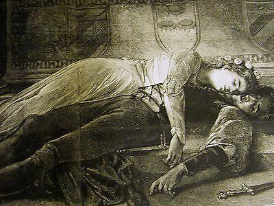 SHAKESPEARE ROMEO & JULIET - DEATH SCENE w STORY BELOW 1875 Large ...