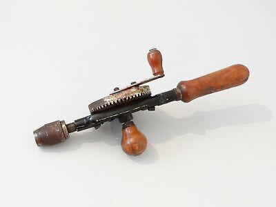 Vintage Antike Handbohrmaschine Holz Bohrer Bohrmaschine Handbohrer 5