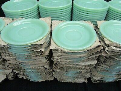 Vintage Jadeite Jadite Fire King Restaurant ware Saucers Minty Mint G-295 3
