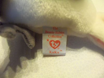TY Beanie Babies White Bird ** KUKU ** 5th Generation New w/ Tag