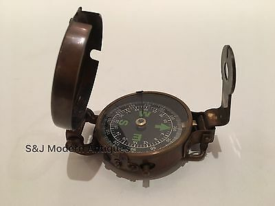 Soldiers Military Thumb Compass Vintage Brass WW2 1940 Navigation World War II 3