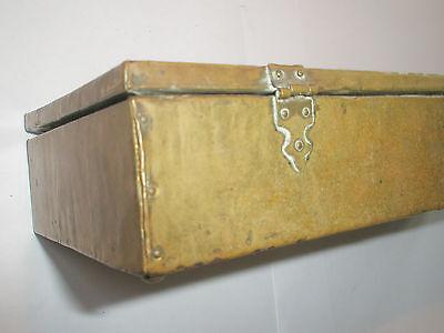 Vintage 1910 Apollo Studios NY Hammered Copper Arts & Crafts Wood Lined Desk Box 8