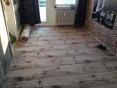 Teppich Auslegware Holzoptik