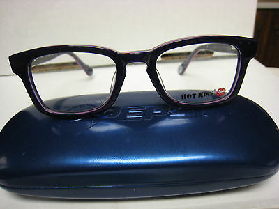 b6b7919871b HOT KISS EYEGLASS FRAMES Style HK44 in BLUE GREEN 45-17-130 with ...