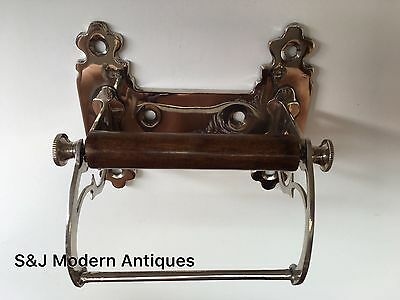 Unusual Toilet Roll Holder Chrome Novelty Vintage Victorian Silver Shabby Chic 10