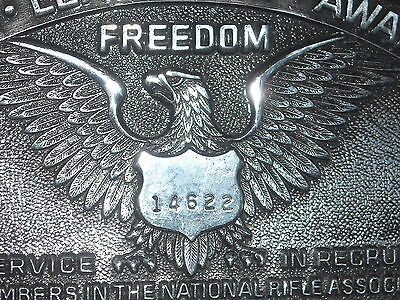 VINTAGE limited ed 1983 NRA leadership award buckle nat rifle assoc freedom 4