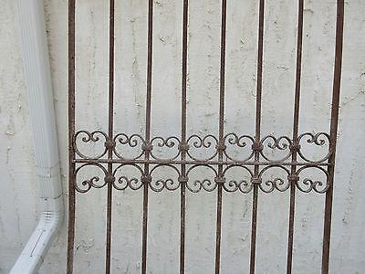 Antique Victorian Iron Gate Window Garden Fence Architectural Salvage Door #53 4
