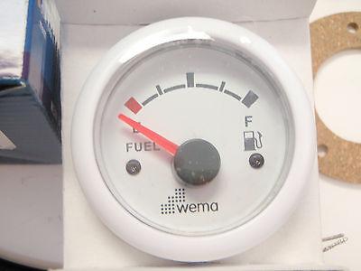 "FUEL TANK GAUGE METER AND SENDER 25/"" STAINLESS WEMA KUS UPFR-WW-240-33 WHITE GAS"