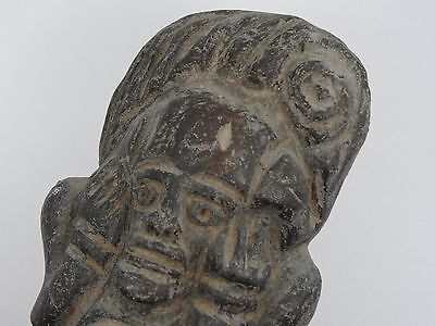 "Antique Pre-Columbian Guatemala Seated Shaman Figure ~ 6"" 2"