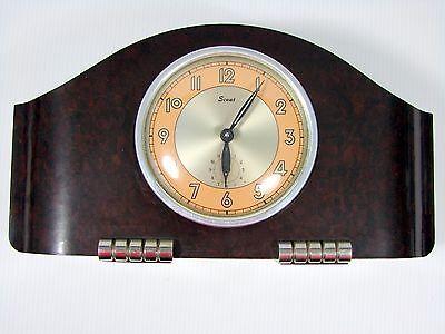 Huge Old French Art Deco BAKELITE ALARM CLOCK SCOUT 8