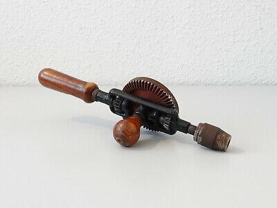 Vintage Antike Handbohrmaschine Holz Bohrer Bohrmaschine Handbohrer 2