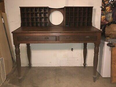 Antique Mail Sorter Post Office Desk 2