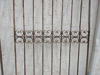 Antique Victorian Iron Gate Window Garden Fence Architectural Salvage Door #318 3