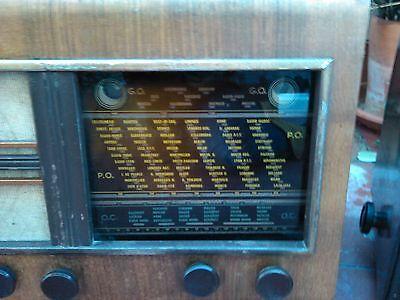 RADIO ANTIGUA VALVULAS DE MADERA OJO MAGICO. A 125 v. 4