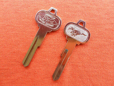 2 Ford Mustang Pony Nos Trunk Key Blanks 64 1964 65 1965 66 1966 3