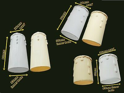 Set Of 5 Chandelier Candle Plastic Drips Light Pendant Bulb Cover Sleeve Antique 5
