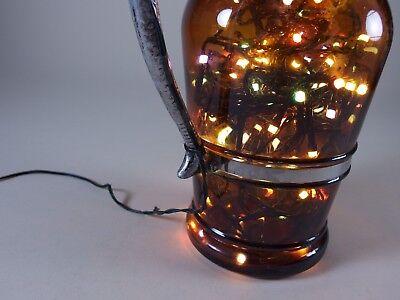 Flaschen Lampe Ratskeller Pils Krug rustikal Tischlampe mit 120 LED´s ww+MC 8
