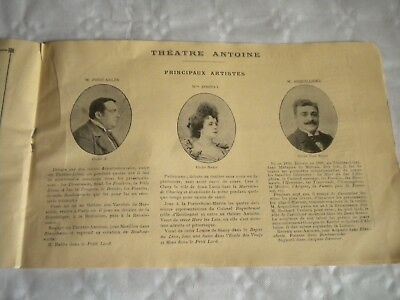 Art Deco Vintage Programme Theatre Antoine Le Petit Café 1950s Paris Pre-1940