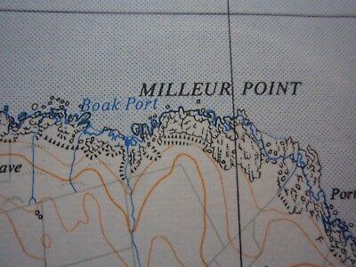 "Ordnance Survey 2.5"" Map NX07 Mouth Loch Ryan 1961 Milleus Point Corsewall Poi 4"
