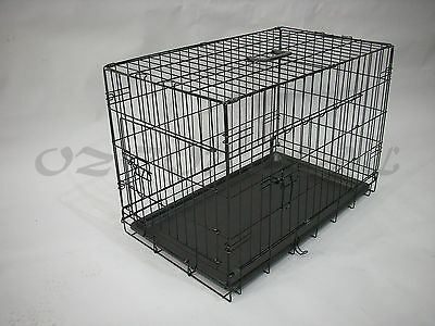 "30""36""42""48 Metal Collapsible Pet Dog Rabbit Puppy Wire Cage Pen Crate Enclosure 2"