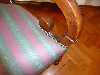 Ausgefallener alter Sessel Spätbiedermeier um 1850 5