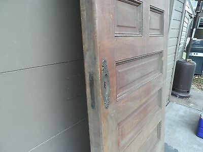 Antique Oak Oversize Pocket or Swing Door. Raised Panel. 4