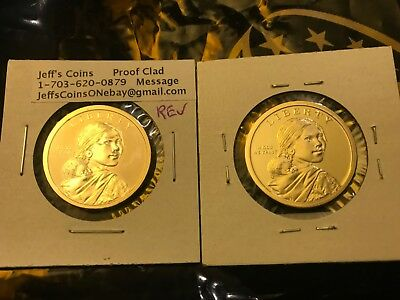 2018 PDSS Proof & REVERSE Native American Sacagawea Coins New Golden Dollars P D 11