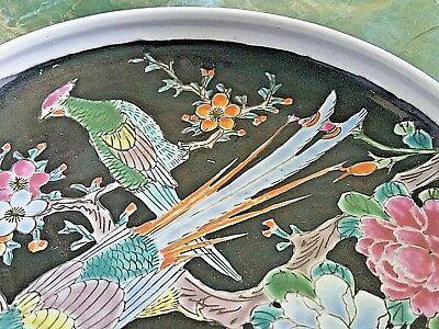 Antique Arita Imari Dish Bowl Signed Japan Enamel Porcelain Rare Flowers Birds 6