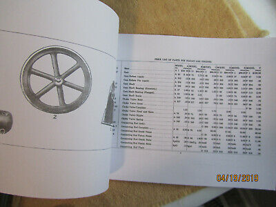 Early 1900s Hagan Gas Engine Company 1,2,3,4 cylinder parts price list  2-50HP 3