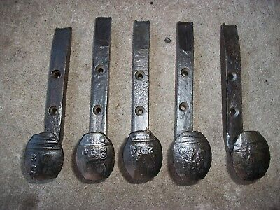 14 WIRE-BRUSHED Horse Tack Hooks Coat Or Hat Rack Railroad Spikes Stable Hanger 2
