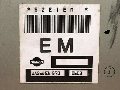 02 NISSAN SENTRA 1.8L ECM 4K  JA56T65  REMANUFACTURED OEM PLUG AND PLAY