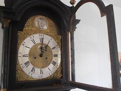 Antique 8 Day Brass Arch Dial Oak Grandfather Longcase Clock ALEX GORDON DUBLIN 3