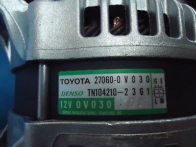 Toyota Highlander New Altenator 27060-0V030, Denso Tn104210-2361 12V Qv030