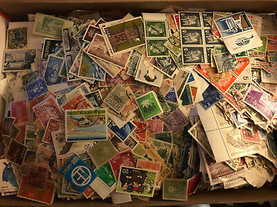 Worldwide Off Paper Stamps collection/-Unsearched lot-Mint-used/glassines++Bonus 3